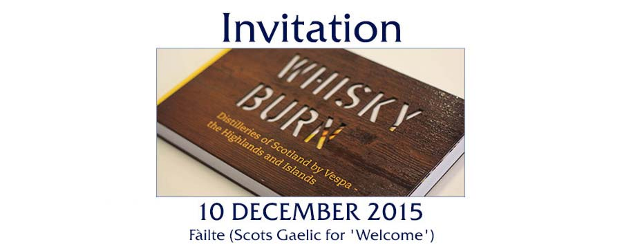 Invitation to Whisky Burn Launch Event Amsterdam