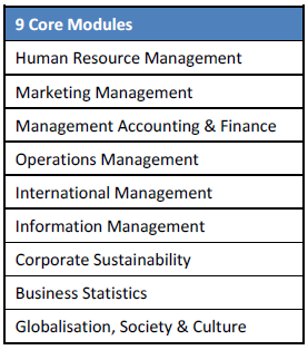 9 Core Modules in Wittenborg's MBA