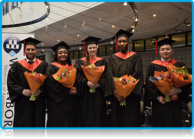 Master of Science graduates from WUAS who received their MSc degree at the 2015 Winter Graduation Ceremony on Friday will get a second degree from the University of Brighton on 13 February 2015. Wittenborg's Chair of the Executive Board, Peter Birdsall, will accompany them to the Brighton ceremony.