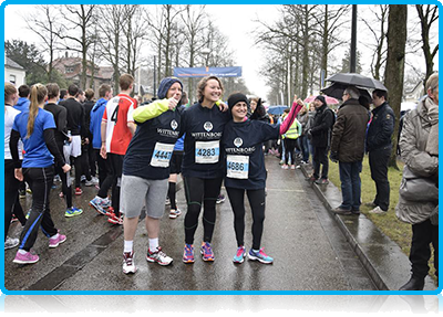 Wittenborg @ Sport  - Staff and Students bare the cold to run the Apeldoorn Winter 'Marathon'