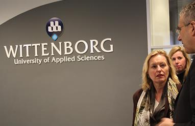 Minister Bussemaker visited Wittenborg University in March 2014