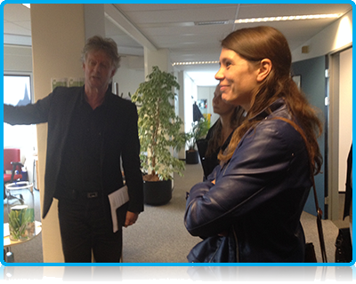 Chris van den Borne, Saxion's director of the international office, gave the SOI members a guided tour of the international office facilities at the Saxion Deventer campus.