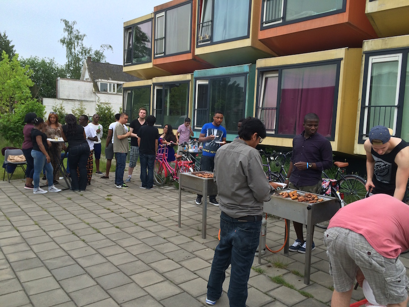 Wittenborg Students enjoy a barbecue during the first day of the year over 30 degrees!
