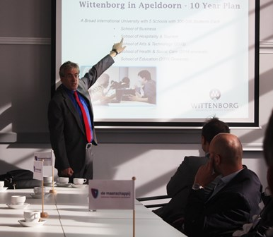 Wittenborg University was proud to host members of the influential business organization, De Maatschappij, for a lunch network event at its Spoorstraat 23 location in Apeldoorn on Monday