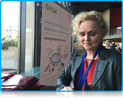 Dr Saskia Harkema at Cleantech 2015 in Apeldoorn for Wittenborg University