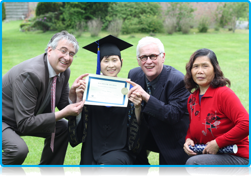 Kuang Hongjie – 'Debbie' receives honorary degree. Saturday 19th May 2012