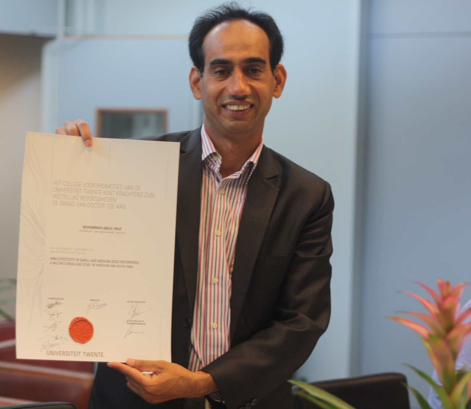 Wittenborg Senior Lecturer, Dr Abdul Rauf, Nominated for Prestigious HRM Award after PhD Dissertation