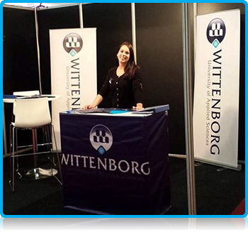 The representatives of Wittenborg University are all set and ready for the Education Fair in Eindhoven. Come find us at stand 51 in Beursgebouw Eindhoven today and Saturday!