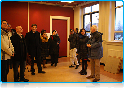 WUAS Staff Visit the New Building at the Spoorstraat 23