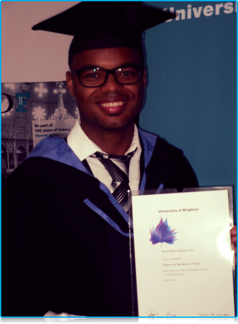 The First Wittenborg Double Degree Student to have Graduated at the University of Brighton!