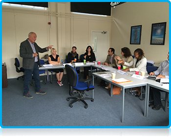 Wittenborg University and ANGELL Akademie Staff at a Partnership Workshop in Eastbourne Campus of the University of Brighton
