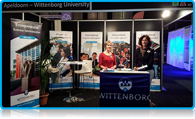 Wittenborg Representatives Ready for the Education Fair in Martiniplaza, Groningen