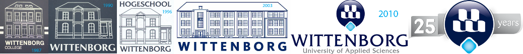 The Logo's of Wittenborg University in the past 25 Years