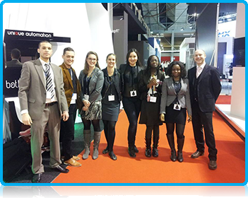Wittenborg University Students learn Trade Fair Sales at the Integrated Systems Europe (ISE) Fair.