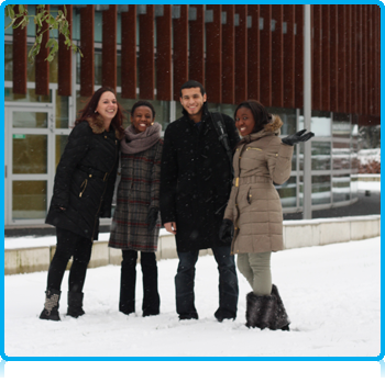 As a blanket of snow fell across the Netherlands, international students at Wittenborg University enjoyed the winter atmosphere at the campus today.