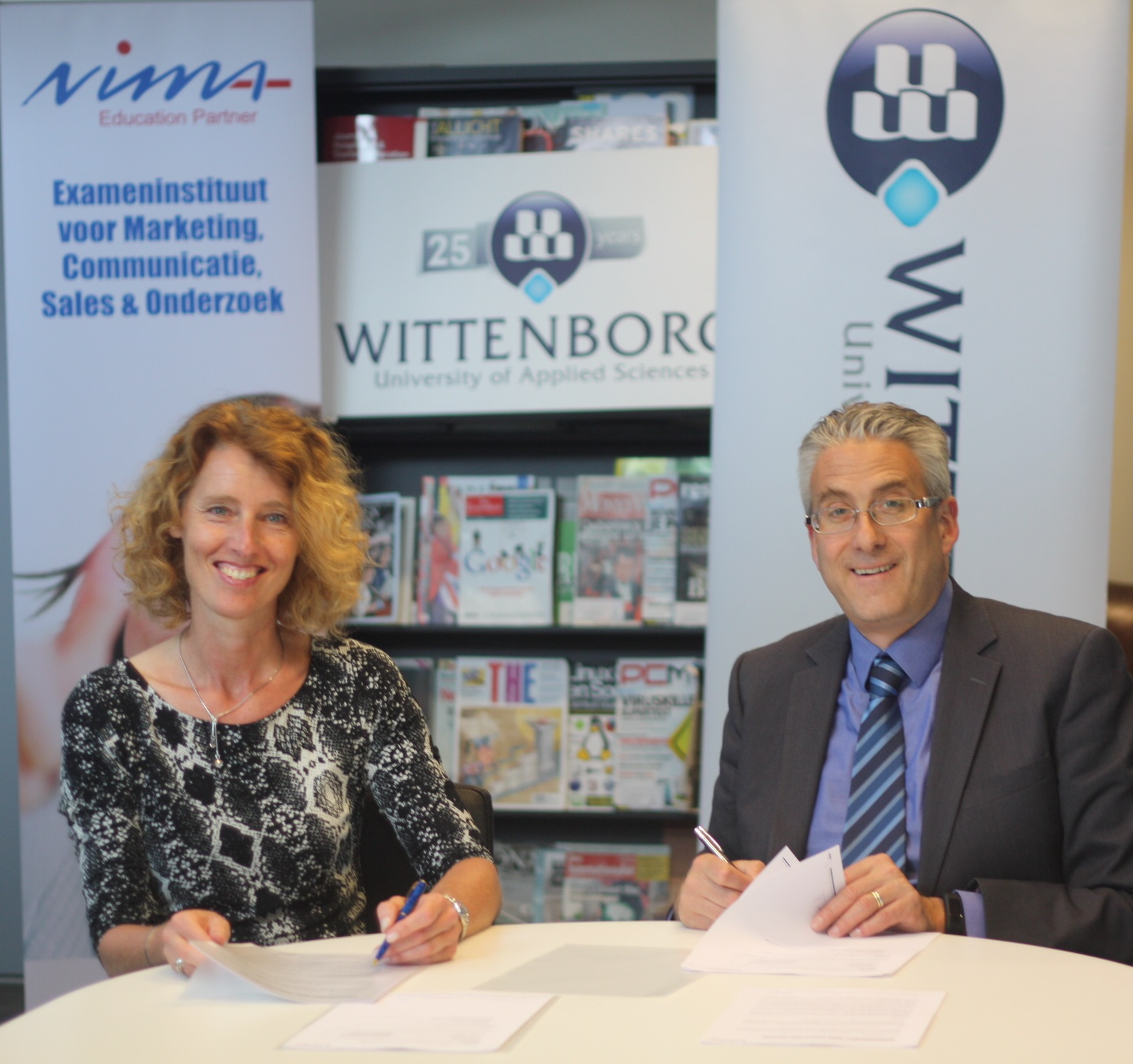 WUAS has signed a contract with the Netherlands Institute for Marketing (NIMA) to offer a fast tracked NIMA B1 and 2 course from September 2015. NIMA is the Dutch authoritative body and exam institute in the field of marketing