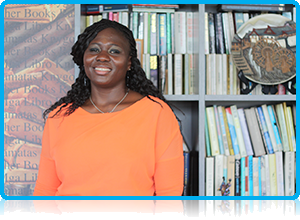 Priscilla Tetteh - Wittenborg University managing assistant for Pinksterbloem