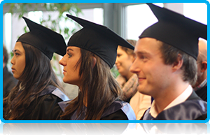Graduates, Alumni and Current Students at Wittenborg University celebrate together.