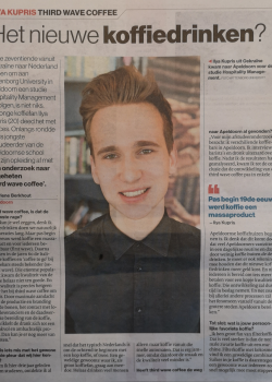 Graduate's Research on Coffee Leads to Newspaper Article