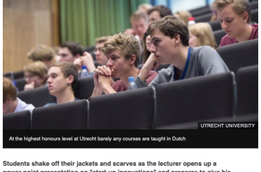 BBC Reports Dutch Language Besieged by English at the Unis