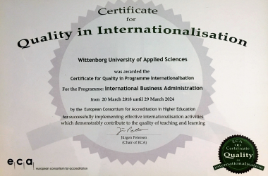 WUAS awarded European Accreditation for Quality in Internationalisation
