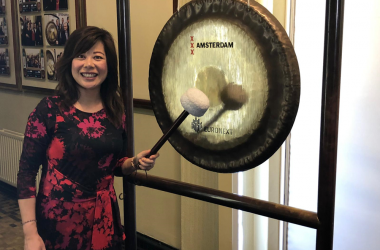 CEO Maggie Feng represents Wittenborg during International Women's Week in Amsterdam.