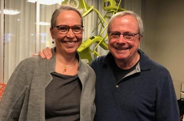 Dr Nicolet Theunissen from Wittenborg with writer and inventor, David Allen.