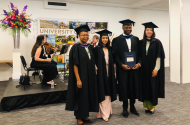 Wittenborg Students' Elation at Awards Ceremony in Brighton, UK