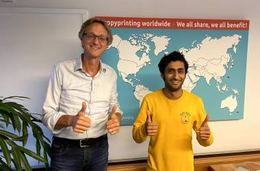 Jawaid with HappyPrinting CEO and founder Sven Rusticus