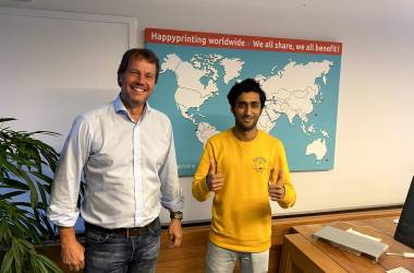 Jawaid with HappyPrinting COO Jean-Pierr