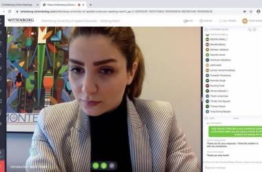 Sophia Faraji in the Online Session