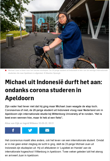 One International Student on Why He Decided to Study in Netherlands Despite COVID-19