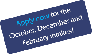 Apply Now for the February, April or May Intake