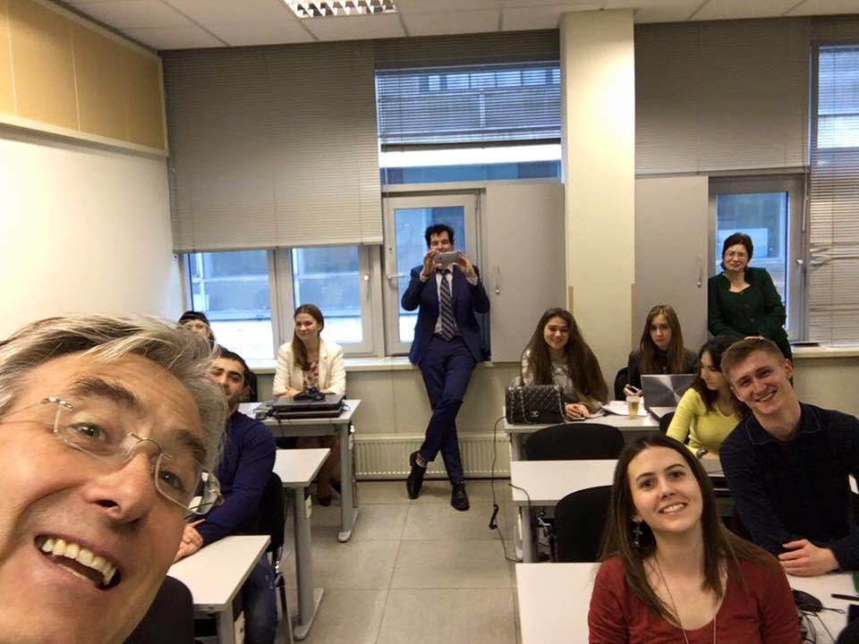Yesterday, WUAS director Peter Birdsall entertained students of the Moscow State University Business School with a presentation on his entrepreneurial experience