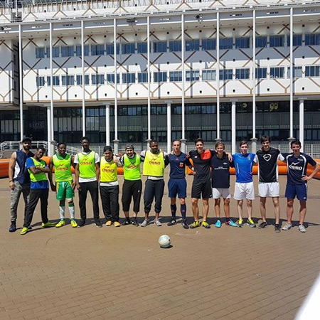 Wittenborg Students Eager to Play Football after Charity Tournament