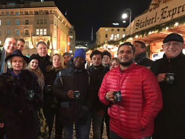 Students and staff enjoy festivities at campus Vienna, Amsterdam and Apeldoorn