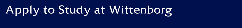 Apply to Study at Wittenborg University