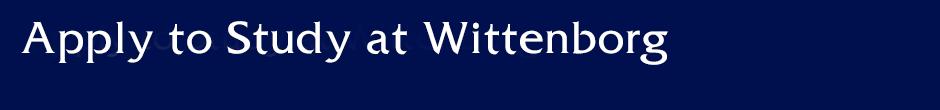 Apply to Study at Wittenborg University