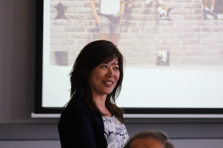 Maggie Feng discussing the new school of health & sports as part of the MBA in health & social care